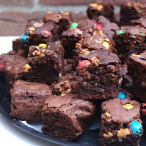 Walnoot M&M brownies EEFSFOOD